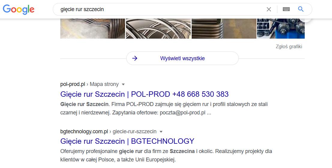 efekty SEO - BG Technology Bydgoszcz