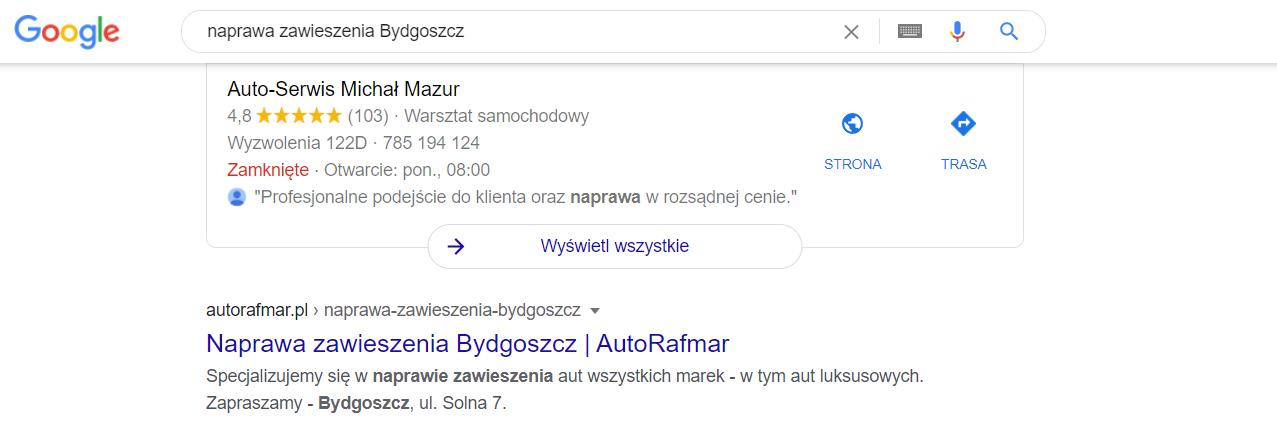 efekty pozycjonowania autorafmar.pl