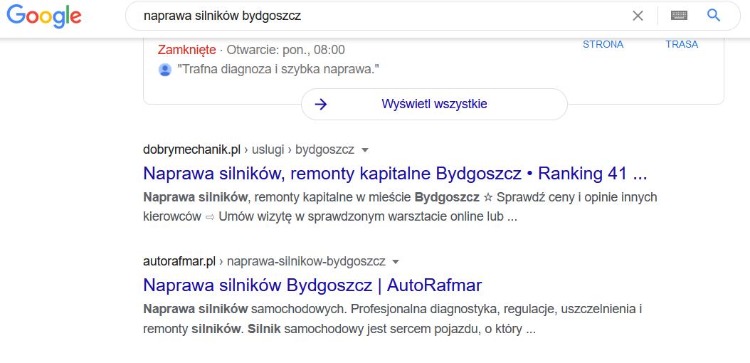 efekty seo dla autorafmar.pl